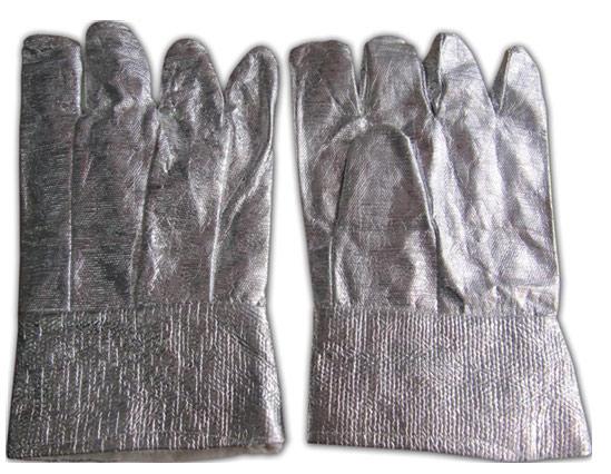 Găng tay chống nóng amiang tráng bạc loại ngắn