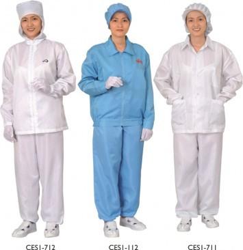 Bộ quần áo phòng sạch tĩnh điện loại ngắn