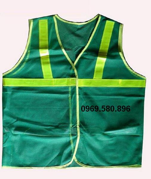 Áo phản quang lưới - Màu xanh môi trường