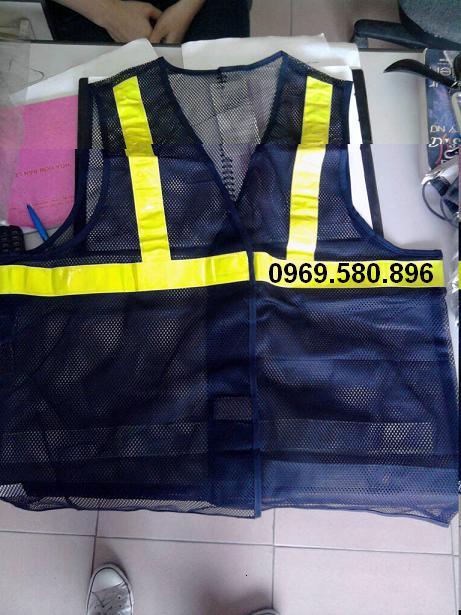 Áo phản quang lưới - Màu tím than