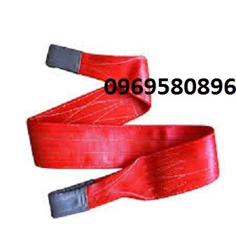 Dây cẩu 5 tấn x 10m  màu đỏ bản rộng 2,5 cm