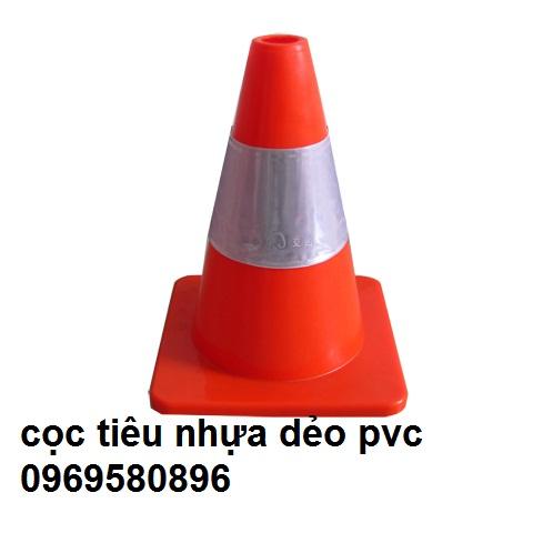 Cọc Tiêu Giao Thông  PVC-30cm- Hãng sản  xuất -Việt Nam