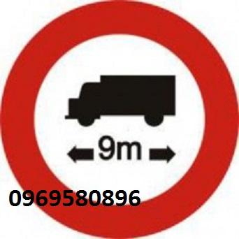 Biển Báo p 119 Hạn Chế Chiều dài xe  giá cực rẻ tại Hưng Thịnh Phát