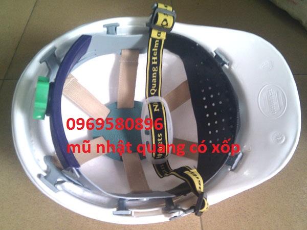 Mũ BHLĐ  Nhật Quang Có Lót Xốp -cách nhiệt giá rẻ tại Hưng Thịnh Phát 771 Nguyễn Xiển