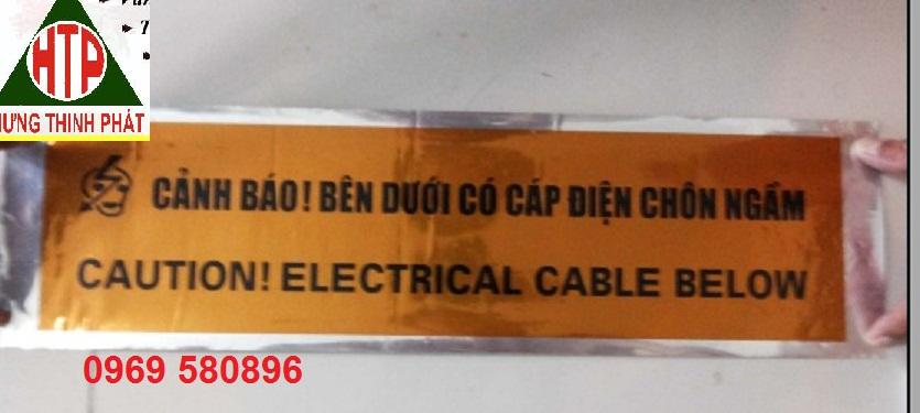 Băng cảnh báo bên dưới có đường ống nước