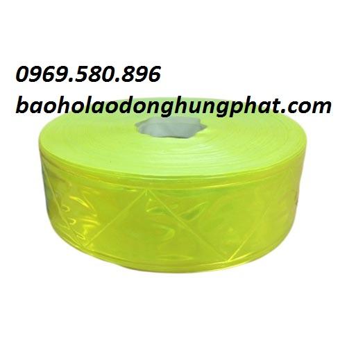 Dây phản quang vải sọc ghi 2,5 cm  giá rẻ tại  Hưng Thịnh Phát