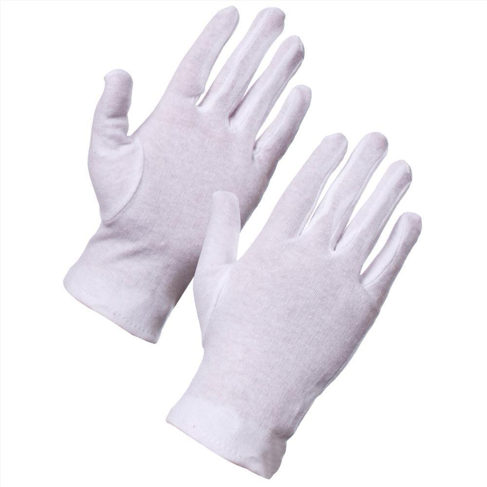 Găng tay vải cotton trắng
