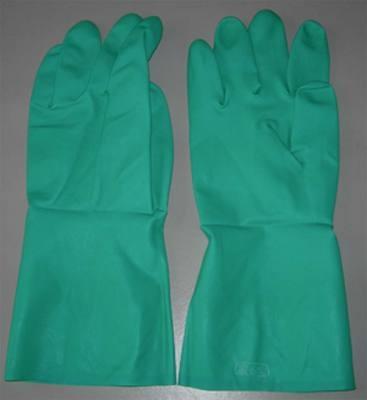 Găng tay chịu dầu mầu xanh