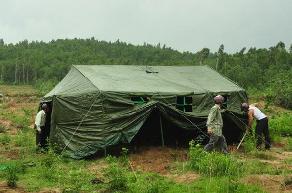 Nhà bạt cơ động quân đội