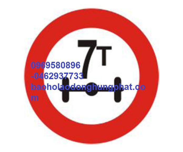 Biển số 116  hạn chế trọng lượng trên trục xe