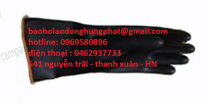 Găng  tay chống a xít mầu đen dài 34 cm  chỉ có tại 541 nguyễn...