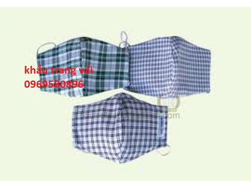 Khẩu trang vải  kẻ 2 lớp giá rẻ tại Hưng Thịnh Phát 771 Nguyễ...